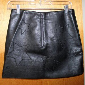 Black Zara Faux Leather Biker mini skirt size US 6